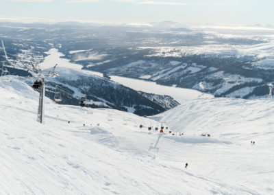 View from the top of the skiing piste in Are, Sweden