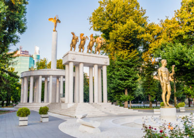 Monument of fallen heroes in Skopje, Macedonia