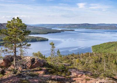 View from Mjältön Island in the Höga Kusten Skargard in northern Sweden