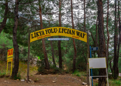 The start point of Lycian way. Fethiye, Turkey. Trekking route of Turkey. Travel Destination.