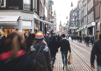 people in Amsterdam City Centre