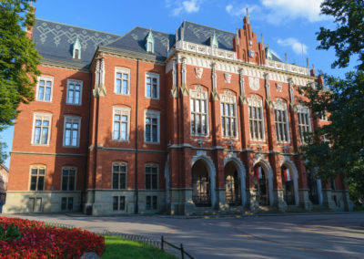 The Jagiellonian University facade, Krakow, Poland