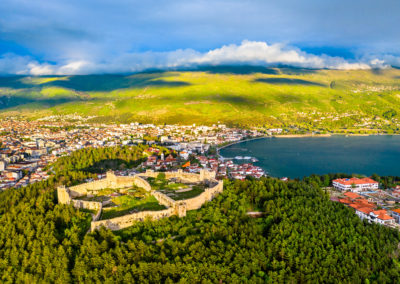 Samuels Fortress at Ohrid in North Macedonia