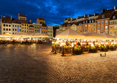 Evening at Old Town Square in Warsaw
