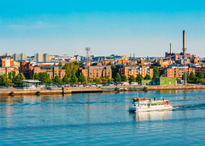 Touristic Pleasure Boat Near Harbour Of Helsinki, Finland
