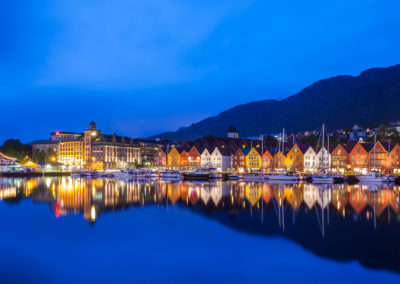 Bergen Bryggen at Night
