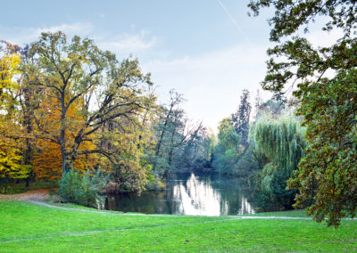 Zagreb, Croatia, Lake in Maksimir park