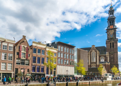 Anne Frank House and the Westertoren in Amsterdam