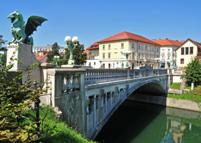 Dragon's bridge, Ljubljana, Slovenia
