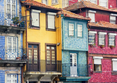 Colorful houses of Porto