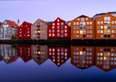 Trondheim - Norway - Sky blue - Bakklandet Colors - Old town
