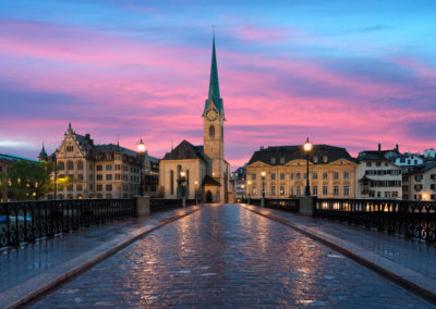 Zurich. Image of Zurich, capital of Switzerland, during dramatic